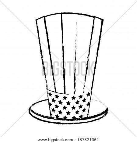 figure usa hat to patritism celebration design, vector illustration