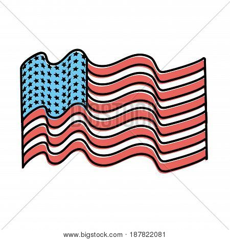 usa flag to celebrate holiday patriotic, vector illustration