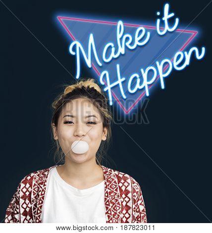 Make It Happen Change Decision Word