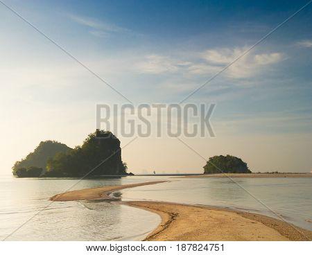 Desert Island Sea Scene