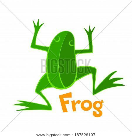 Green frog. Vector icon. Eps8 RGB Global colors