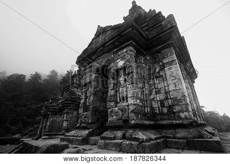 Gedong songo temple is one of many hinduism temple at central java indonesia