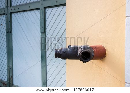 Fire Fighting Nozzle Safety In Public stock photo