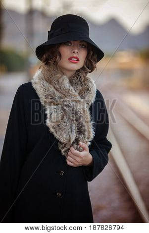 fifties woman in retro clothing