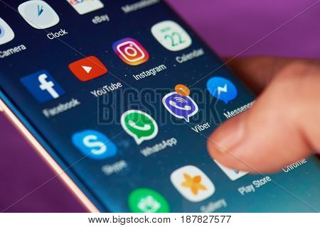 Viber Message On Smartphone