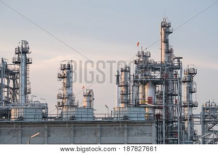 Oil Refinery Plant. Pipeline