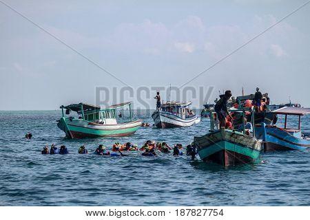 Snorkling Spot at Pari island Pulau seribu indonesia