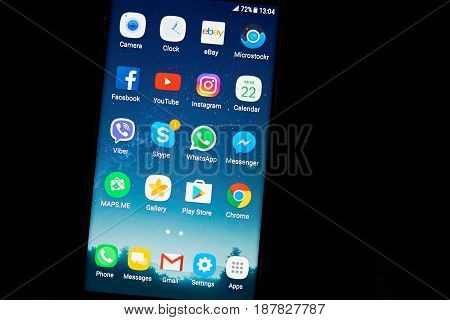 Modern Android Smartphone Menu