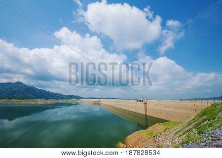 Khun Dan Prakan Chon Dam At Nakhon Nayok, Thailand