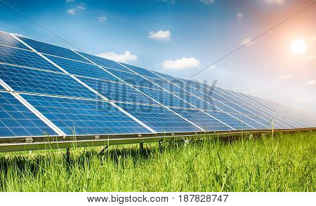 image of a big solar plant. A close up