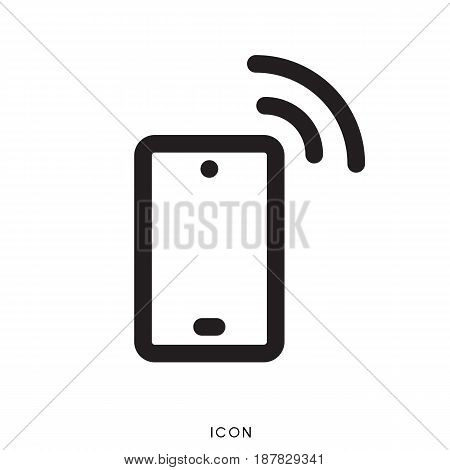 icon smart phone on white background, vector