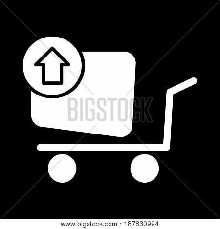 Remove from the shopping cart vector icon. Black and white shopping illustration. Solid linear icon. eps 10