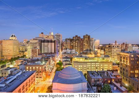 Baltimore, Maryland, USA downtown cityscape.