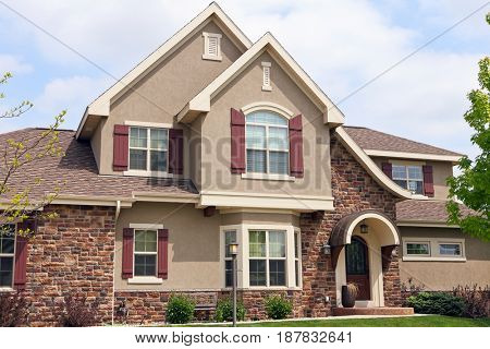 Close up suburban house