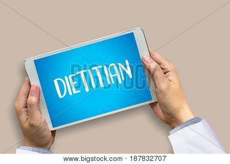 Dietitian And Nutritionist Doctor Or Dietitian And Dietitian Professional Unhealthy
