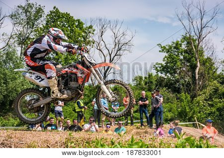 Extreme Enduro Motocross In Action