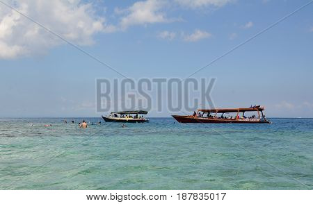 Seascape Of Gili Islands In Indonesia