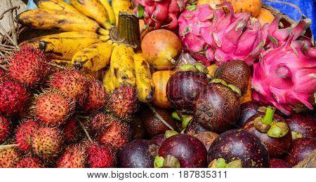 Fresh Fruits At The Market