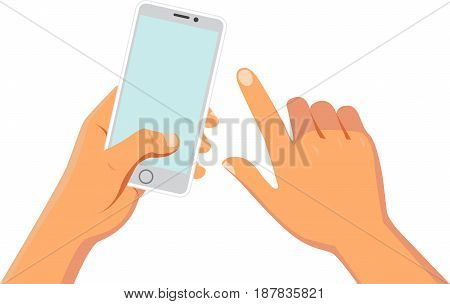 Hands holding smart phone or other digital devices
