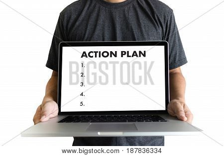 Action Plan Strategy Vision Planning , Creative Development Process , Business Man Of Plan