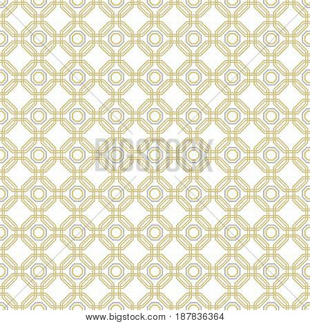 Geometric abstract vector golden octagonal background. Geometric abstract ornament. Seamless modern pattern