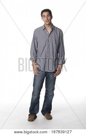 Serious Caucasian man