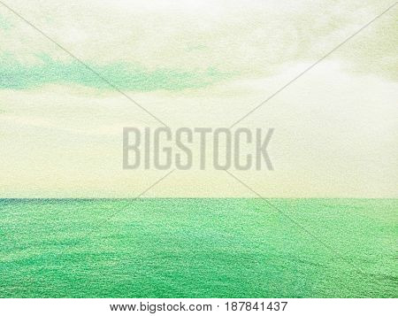 Sea and sky. Artistic background with paper texture.