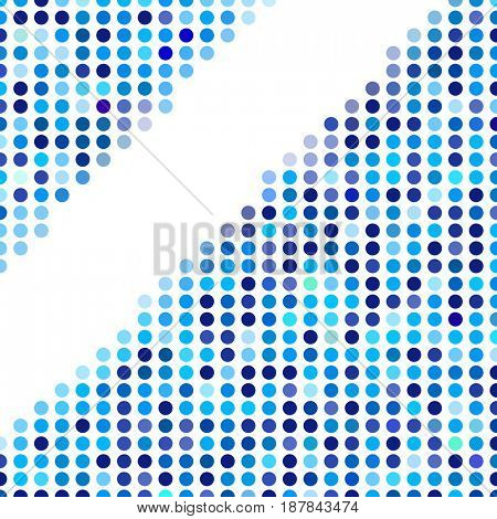 Mosaic background random dark and light blue circles, pattern of polka dots, neutral versatile pattern for business techno style design. Decoration of the booklet, broadsheet, flysheet, poster, banner
