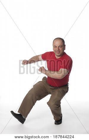 Dancing Caucasian man