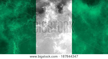 Nigeria flag grunge background. Background for design in country flag