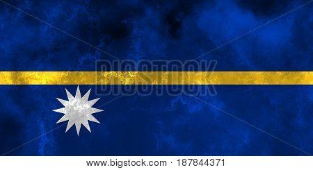 Nauru flag grunge background. Background for design in country flag