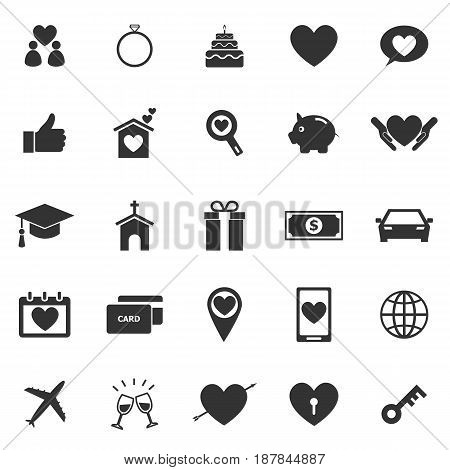 Family icons on white background, stock vector