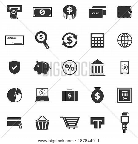 Payment icons on white background, stock vector