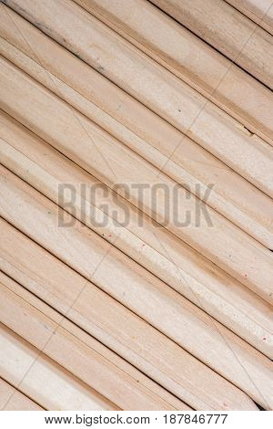 Close-up Top View Of Set Of Wooden Pencils Texture