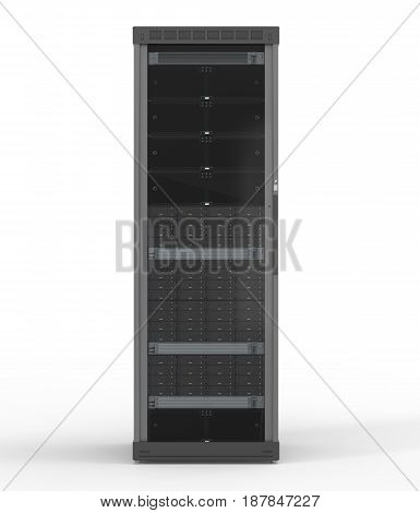 Server Computer On White Background