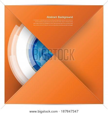 white square. Paper origami. design web illustration