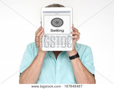 Settings Setup Application Icon Keyboard Website Layout Graphic