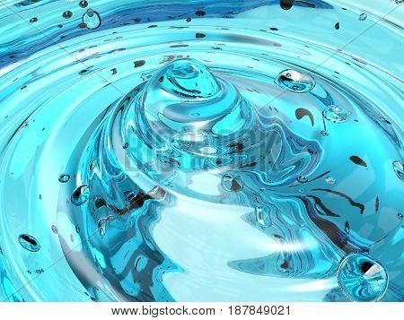Blue Cosmetic Gel
