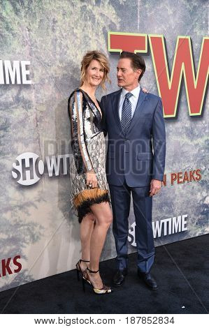 LOS ANGELES - MAY 19:  Laura Dern and Kyle MacLachlan arrives for the premiere of