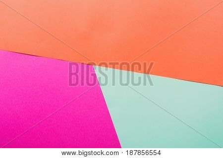 Bright background. Backdrop minimalistic design, geometric textured abstract color. Flat lay composition, top view, copy space