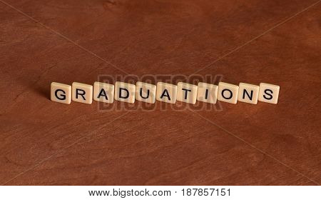 Graduations Lettering.