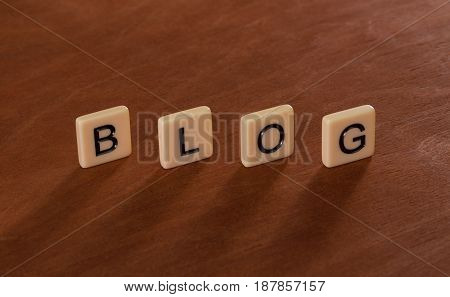Personal Blog Headline. Social Networking Concept.