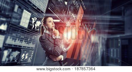 Innovative technologies as symbol for progress. Mixed media . Mixed media