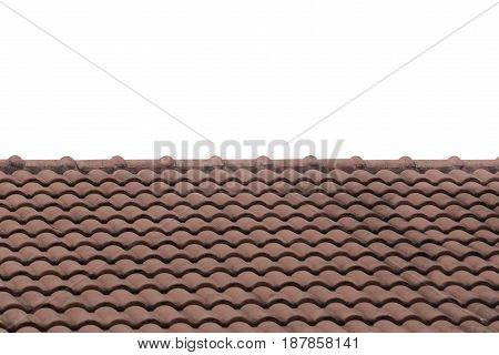 Brown Roof tile isolated on white background and have clipping paths to easy deployment.