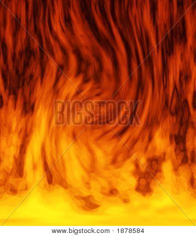 Dancing Fiery Background