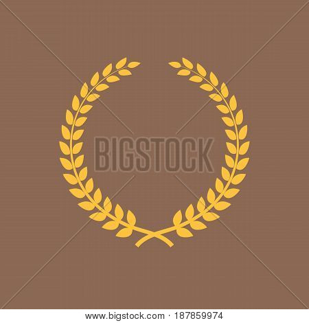 Golden laurel wreath. Symbol of victory and achievement