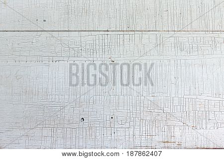 White wooden background with crackling effect Copy space Top view