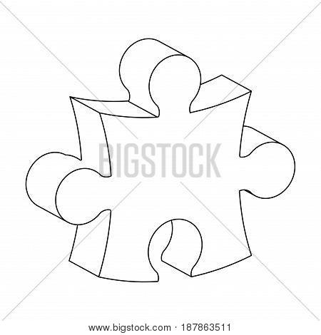 Puzzle 3D Silhouette Vector Symbol Icon Design.