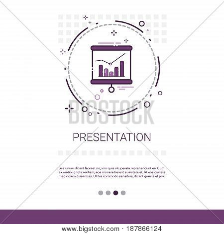 Business Presentation Seminar Conference Brainstorm Process Web Banner With Copy Space Vector Illustration