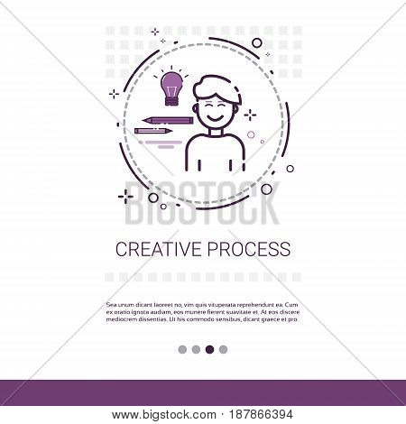 Creativity Think New Idea Inspiration Creative Process Business Web Banner With Copy Space Vector Illustration